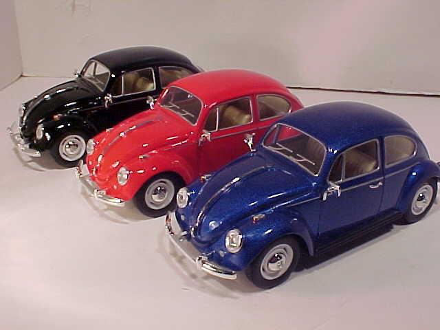 1:24 Kinsmart VW Beetle 1967 red//white